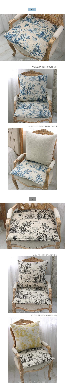 마농 프렌치 린넨 방석 50x50 4colors - 앤코튼1, 18,200원, 방석, 패턴